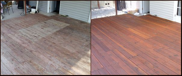 Home garden Decking before an after