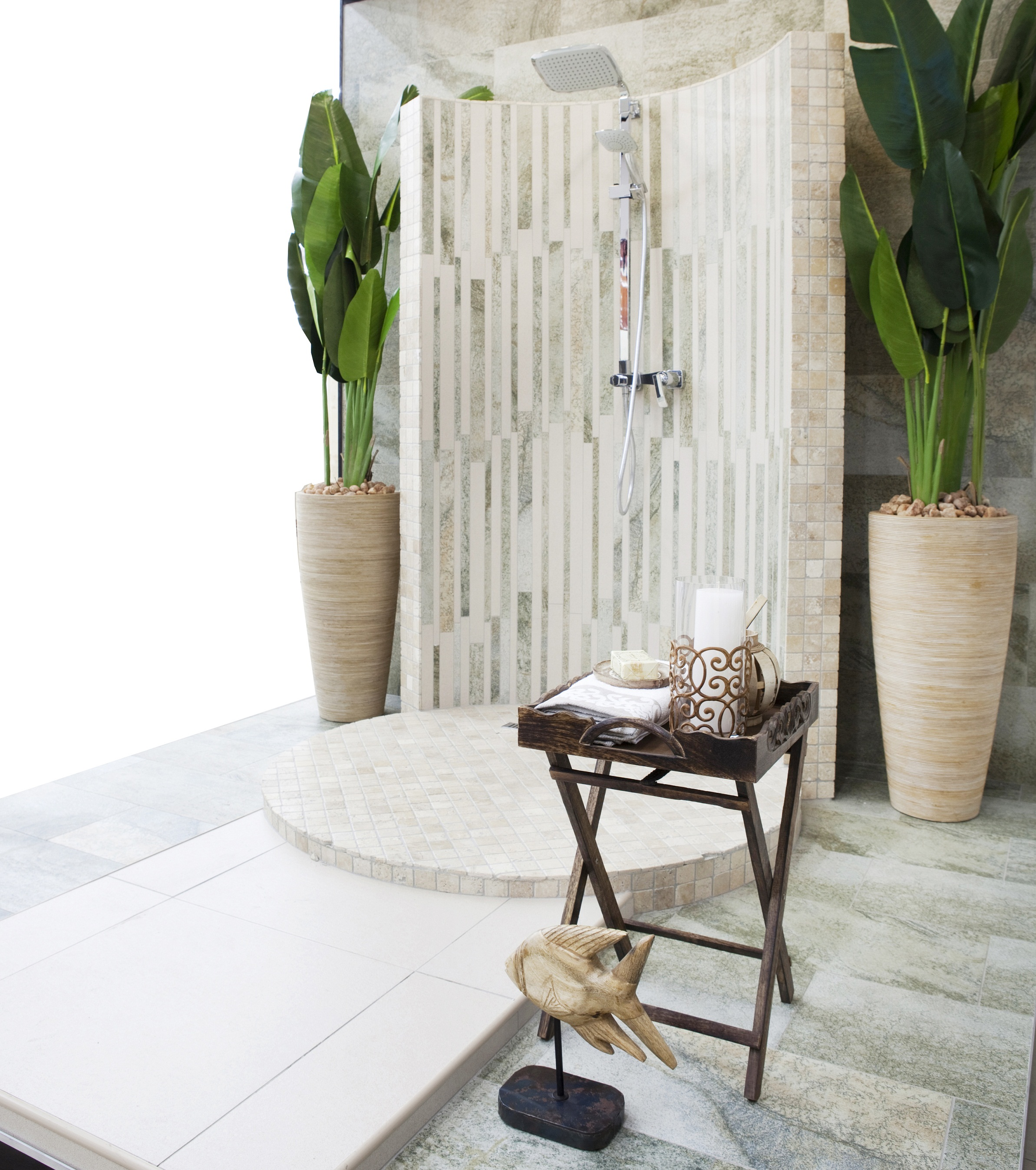 Tile Africa Outdoor Shower pic 2 home gardens